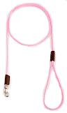 Mendota Pet - British Show Snap Leash - 1/8 Inch x 4 Feet - Hot Pink