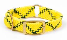 "Mendota Pet - Center Ring Collar - Hi-Viz Yellow - 1""w up to 24 Inch"