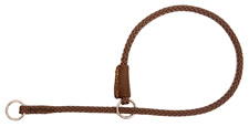 Mendota Pet - Show Slip Collar - Dark Brown - 18 Inch