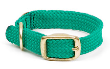 """Mendota Pet - Double Braid Junior Collar - Kelly Green - 9/16""""w  up to 14 Inch"""