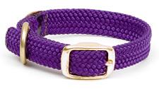 "Mendota Pet - Double Braid Junior Collar - Purple - 9/16""w  up to 12 Inch"