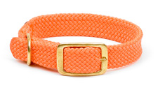 "Mendota Pet - Double Braid Collar - Orange - 1""w up to 24 Inch"