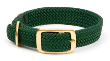 """Mendota Pet - Double Braid Collar - Green - 1""""w up to 24 Inch"""