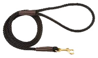 Mendota Pet - Snap Leash - Black - 3/8 Inch x 6 Feet -  Small