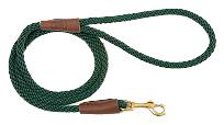 Mendota Pet - Snap Leash - Hunter Green - 3/8 Inch x 6 Feet - Small