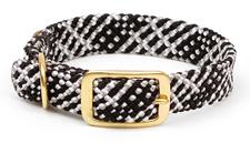 "Mendota Pet - Double Braid Collar - Salt & Pepper - 1""w up to 21 Inch"