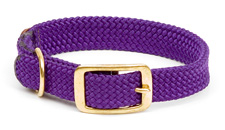 "Mendota Pet - Double Braid Collar - Purple - 1""w up to 21 Inch"