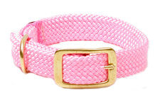 "Mendota Pet - Double Braid Collar - Hot Pink - 1""w up to 18 Inch"