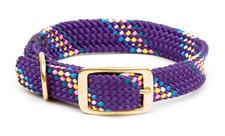 "Mendota Pet - Double Braid Collar - Purple Confetti - 1""w up to 18 Inch"