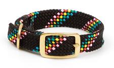 "Mendota Pet - Double Braid Collar - Black Confetti - 1""w up to 21 Inch"
