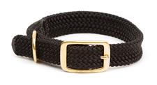 "Mendota Pet - Double Braid Collar - Black - 1""w up to 21 Inch"