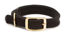 "Mendota Pet - Double Braid Collar - Black - 1""w up to 18 Inch"