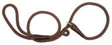 Mendota Pet - Slip Lead - Dark Brown - 1/2 Inch x 6 Feet