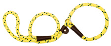 Mendota Pet - Slip Lead - HI-Viz Yellow -1/2 Inch x 4 Feet