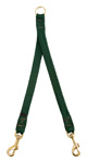 "Mendota Pet- Small Breed Coupler, 2-Dog - Green - 9/16"" w x 24"""