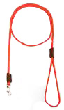 Mendota Pet - British Show Snap Leash - Red - 1/8 Inch x 4 Feet