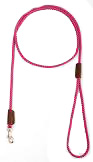 Mendota Pet - British Show Snap Leash - Raspberry - 1/8 Inch x 4 Feet