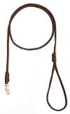 Mendota Pet - British Show Snap Leash - Dark Brown - 1/8 Inch x 4 Feet