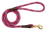 Mendota Pet - Snap Leash - Raspberry Confetti - 1/2 Inch x 6 Feet