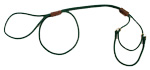 Mendota Pet - Martingale Show Lead - Hunter Green - 1/8 Inch x 40 Inch (Large 12 Inch)