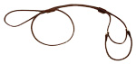 Mendota Pet - Martingale Show Lead - Dark Brown - 1/8 Inch x 40 Inch (Large 12 Inch)