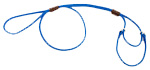 Mendota Pet - Martingale Show Lead - Blue - 1/8 Inch x 40 Inch (Large 12 Inch)