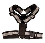 Mendota Pet - Heavy Duty Tracking Harness - Black with reflective - One Size Fits All