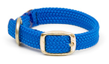 "Mendota Pet - Double Braid Junior Collar - Blue - 9/16""w up to 12 Inch"