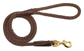 Mendota Pet - Snap Leash - Dark Brown - 1/2 Inch x 6 Feet