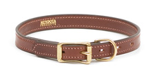 Mendota Pet - Narrow Standard Collar - Chestnut - 3/4 Inch x 12 Inch