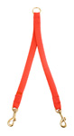 "Mendota Pet - Large Breed Coupler, 2-Dog - Red - 1""w x 28 Inch"