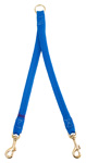 "Mendota Pet - Small Breed Coupler, 2-Dog - Blue - 9/16""w x 24 Inch"