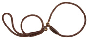 Mendota Pet - Slip Lead - Dark Brown - 3/8 Inch x 6 Feet - Small