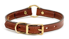 Mendota Pet - Narrow Hunt Collar - Chestnut - 3/4 Inch x 10 Inch