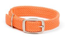 "Mendota Pet - Double-Braid Collar with Satin Hardware - Orange - 1""w up to 24 Inch"