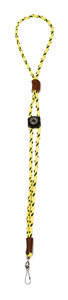 Mendota Pet - Whistle Lanyard, Single with Compass - Hi-Viz Yellow