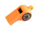 Mendota Pet - Sportsman's Whistle with Compass & Temp Gauge - Orange