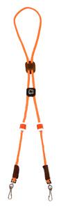 Mendota Pet - Ultimate Lanyard with Flush Counters & Compass - Orange