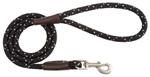 Mendota Pet - Snap Leash - Night Viz - Black - 1/2 Inch x 4 Feet
