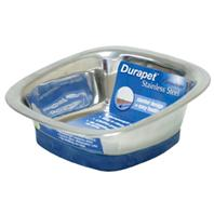 Our Pets - Durapet Square Bowl - Stainless Steel - Small
