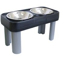 Our Pets - Big Dog Feeder - Black - 16 Inch