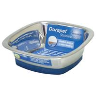 Our Pets - Durapet Square Bowl - Stainless Steel - Medium