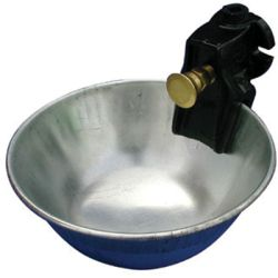 SMB Mfg - Metal Push Button Water Bowl For Cattle - 5 Liters/MIN