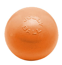 Jolly Pets - Bounce-N-Play Ball - Orange/Vanilla - 6 Inch