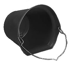 Horsemens Pride - Super Copy Cat Flatback Bucket - Black - 20 Quart