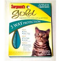 Sergeants Pet Products - Gold Squeeze-On For Cat - 3 Pack
