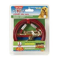 Four Paws - Tie Out Cable - Red - 15 Feet
