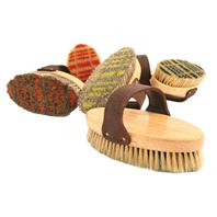 Desert Equestrian - Legends Horsehair Body Brush - Assorted Plaid