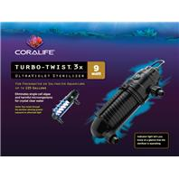 All Glass Aquarium - Coralife Turbo-Twist Ultraviolet Sterilizer - 3X / 9 Watt