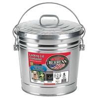 Behrens Manufacturing - Galv Steel Lckng Can With Lid - Steel - 6 Gallon